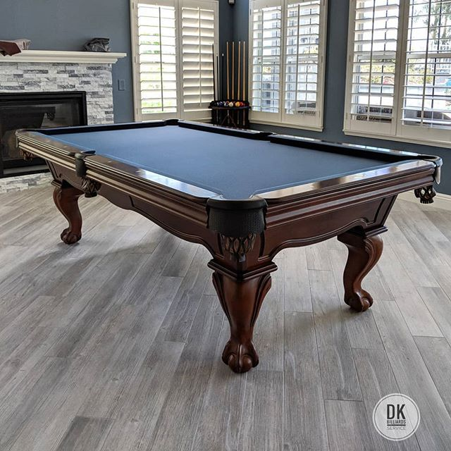 Olhausen Pool Table Set Up And Refelt With Titanium Felt In