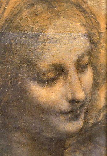 Leonardo da Vinci, The Virgin and Child with Saint Anne and Saint John the Baptist (detail), 1507-08
