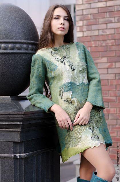 """Платья ручной работы. Ярмарка Мастеров - ручная работа. Купить Платье-Туника """"Сафари"""". Handmade. Разноцветный, эксклюзивная одежда, nora:"""