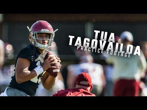 Watch Alabama freshman QB Tua Tagovailoa's spring practice debut | AL.com