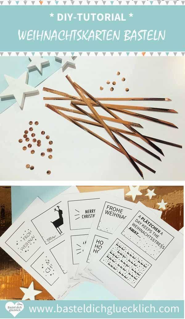 Einfache Weihnachtsgrüße.Weihnachtskarten Basteln Schnelle Und Einfache Weihnachtsgrüße