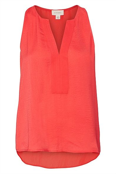 Witchery Split Front Tank $80-pricey, need to see if they buttons go low enough to make it practical.