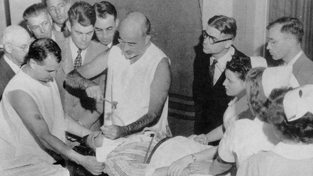 Carrying out a lobotomy
