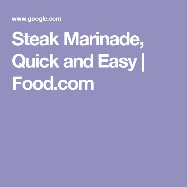 Steak Marinade, Quick and Easy   Food.com