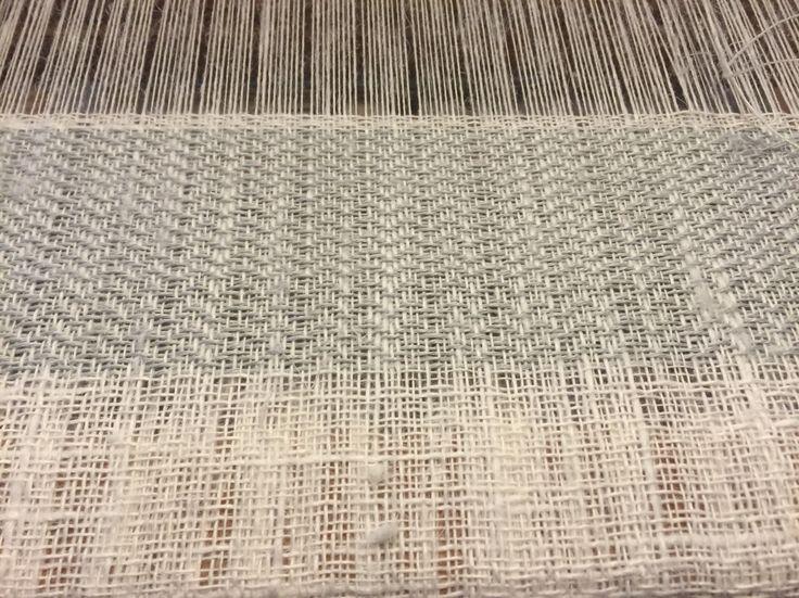 Linen textile #handweaving #designtexiles #artespalermo #loom # giuliettasalmeri