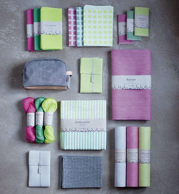Spring colours! 100% linen. Made in sweden.