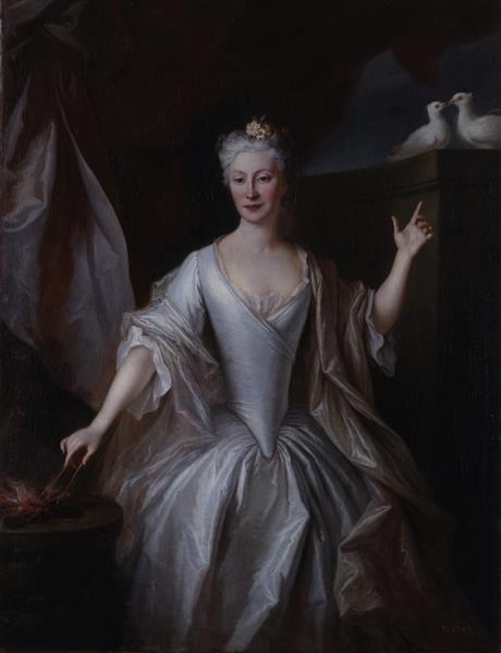 Louis de Silvestre, Gräfin Urszula Bielińska als Vestalin, 1726
