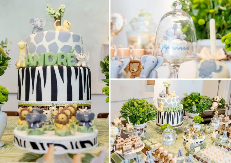 Safari Jungle themed birthday party - I think this would also be perfect for a baby shower.