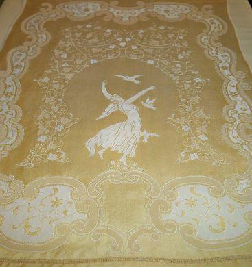 Vintage Angel Double Damask Linen Towel on SALE $39.99