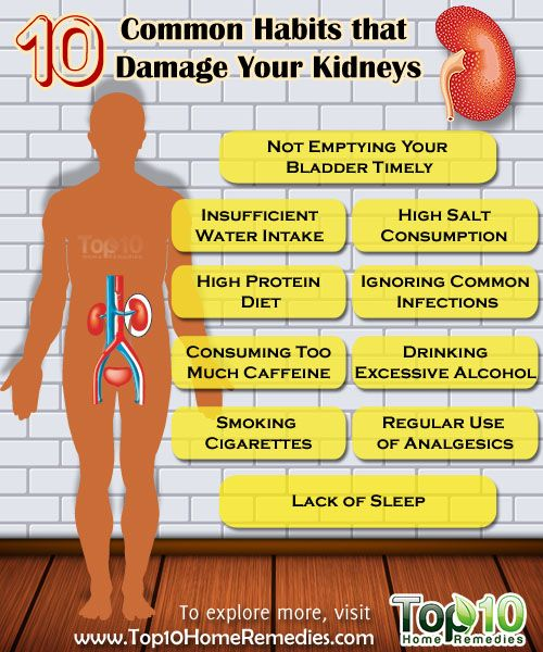 10 Common Habits that are Destroying Your Kidneys