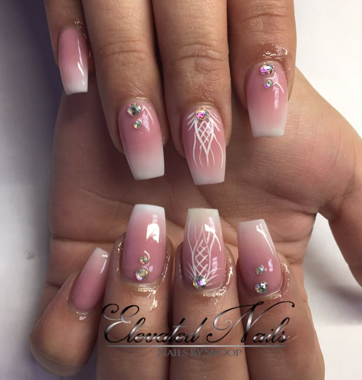 French Ombr 233 Acrylic Coffin Nails Nails Pinterest Coffin Nails Acrylics And Nails