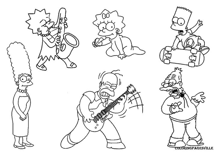 bartman simpsons coloring pages - photo#21