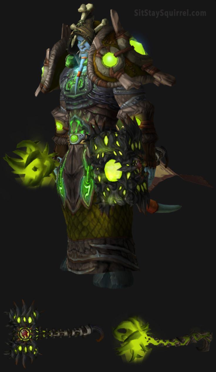 Draenei Male Enhancement Shaman Artifact Transmog Set. World of Warcraft Legion