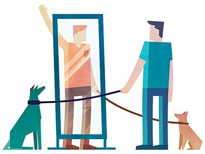 Editorial spot illustration for Reader's Digest magazine. Connections and how people make them.