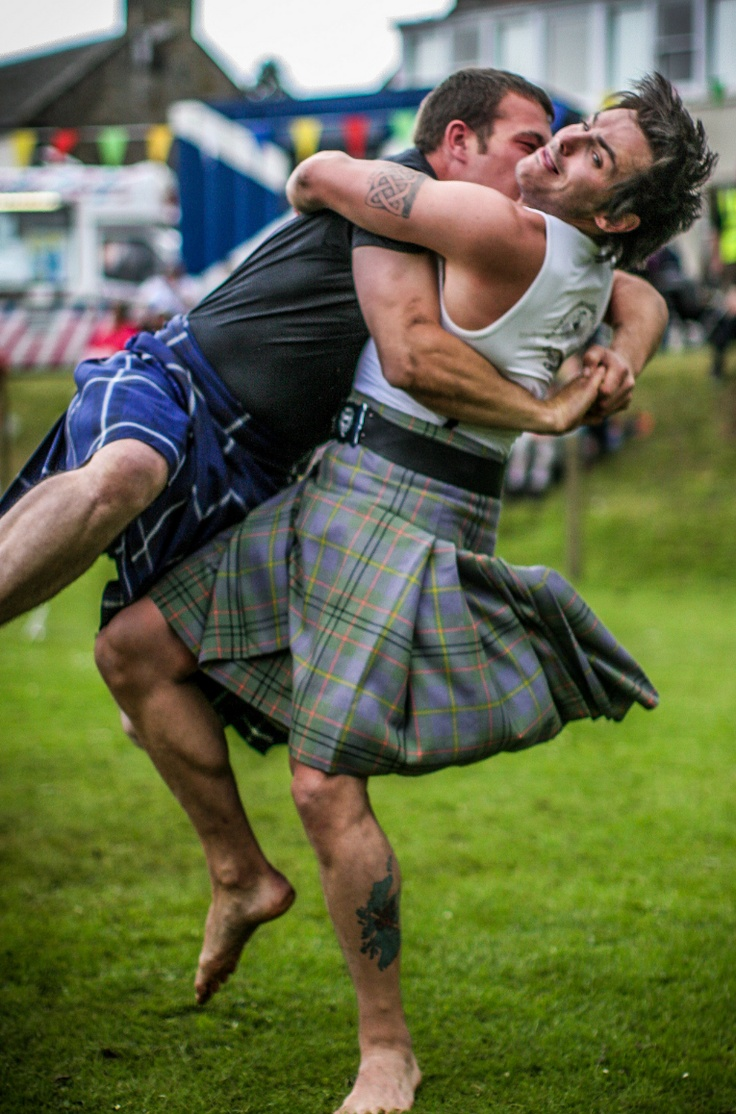 Wrestling kilts. This makes me giggle.