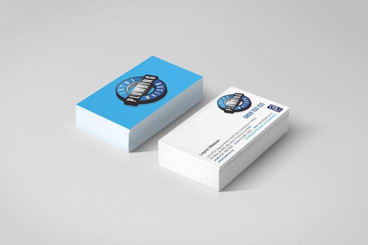 Layne Watson Plumbing business card graphic design by Robertson Creative, Christchurch, New Zealand.
