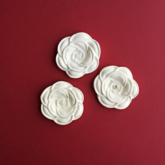 Flower  Plaster Air Freshener / Car Diffuser / by DFlowerBoutique