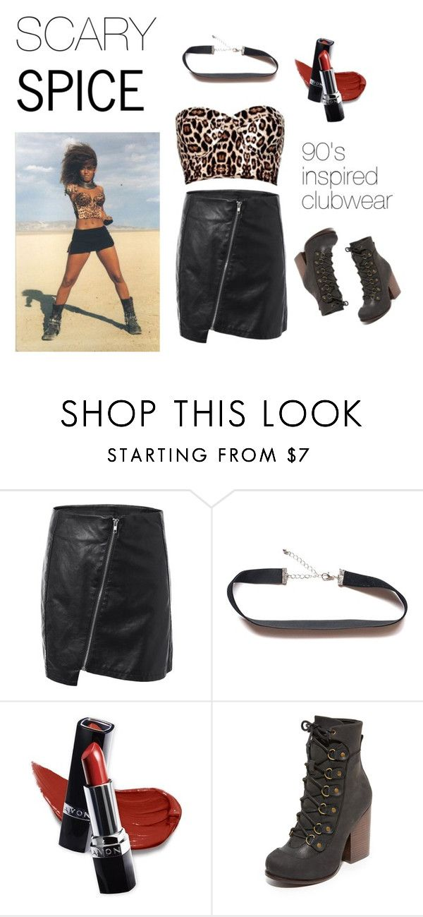 SCARY SPICE by a-le-mode on Polyvore featuring Jeffrey Campbell and Avon