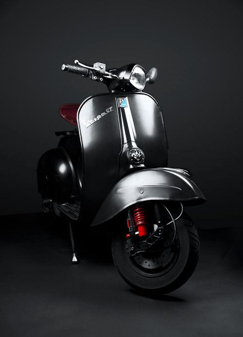 Vespa GT 125, Kenyon Manchego | I can almost imagine a contemporary 150LX (full matic) modified to achieve this look... or a Honda Scoopy or a Yamaha Mio Classic even...