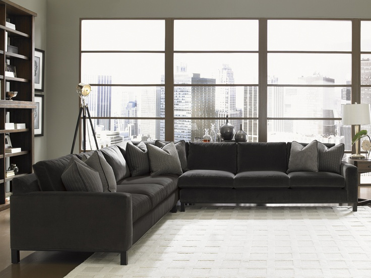 Contemporary Style 11 South Chronicle Sectional Sofa, Lexington Home Brands