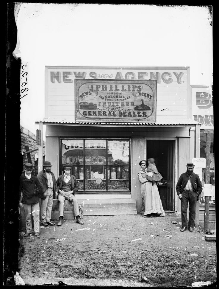 J. Phillips' Newsagency, Fruitrer (sic) and General Dealer, Hill End