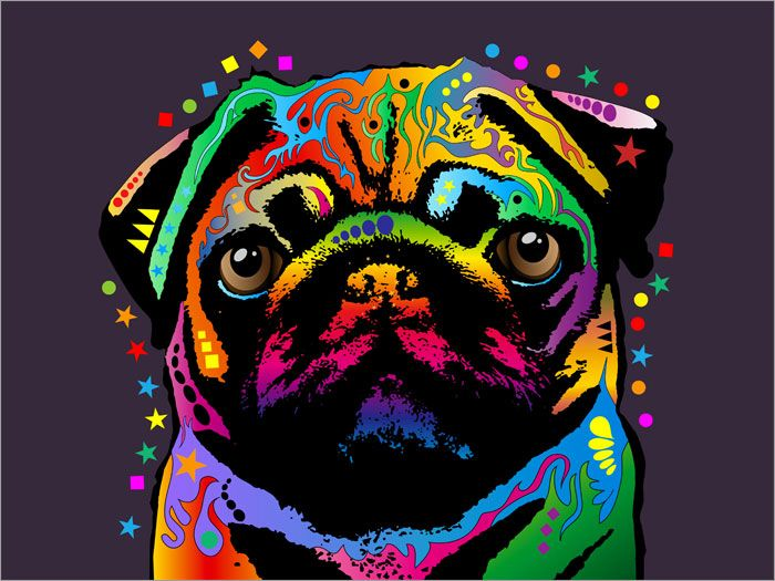 This Pug painting is available to commission as a hand painted canvas or buy as a canvas print. Description from pinterest.com. I searched for this on bing.com/images