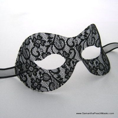 Must remember...for masquerade coture wedding reception provide simple mask for guest with seating arrangement on them