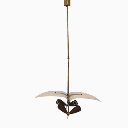 Italienische Hängelampe aus Vergoldetem Messing & Opalglas, 1960er Jetzt bestellen unter: https://moebel.ladendirekt.de/lampen/deckenleuchten/deckenlampen/?uid=40f74a27-e5d5-59ea-868b-5428fa6a2e3f&utm_source=pinterest&utm_medium=pin&utm_campaign=boards #deckenleuchten #lampen #deckenlampen