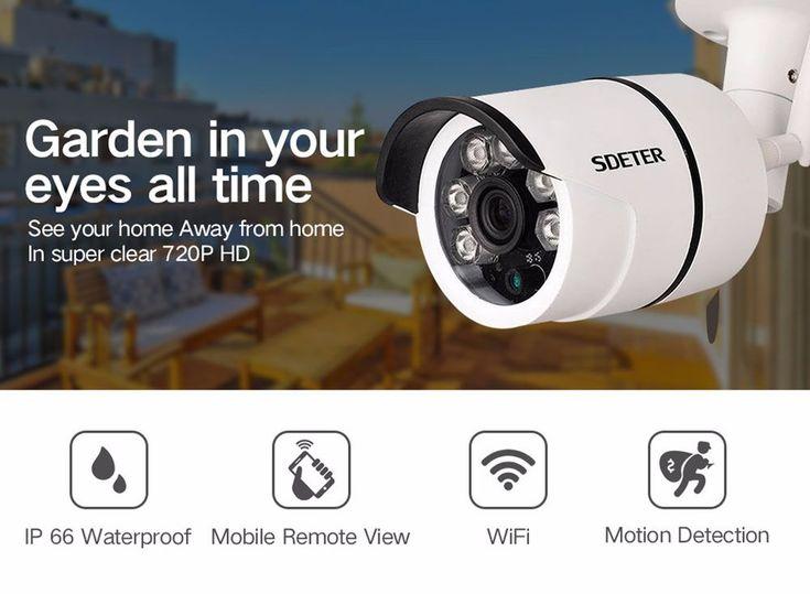Night Vision Outdoor Waterproof  HD 720P Home Security Wifi Wireless IP Camera  #SDETER
