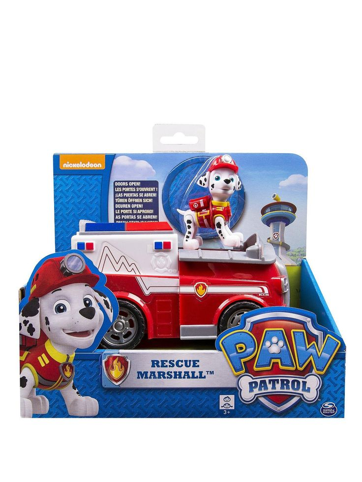 Get ready for an adventure with the Paw Patrol Marshall's Ambulance and Action Figure. No job is too big and no pup is too small! This colourful toy is perfect for recreating rescue scenes with Marshall and his new ambulance vehicle complete with opening doors at the back.Inspire your child's imagination as they create their own stories full of friendship, teamwork and bravery.Features: Ambulance vehicle with opening doorsRescue Marshall figureAge from 3 yearsPaw Patrol Ambulance with Rescue…