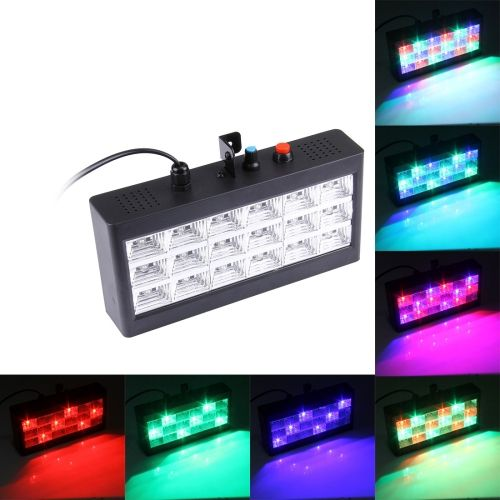 [$8.21] 20-25W 18 LED Strobe Stage Light, Sound Control / Auto Run Mode, AC 90-240V(Colorful Light)