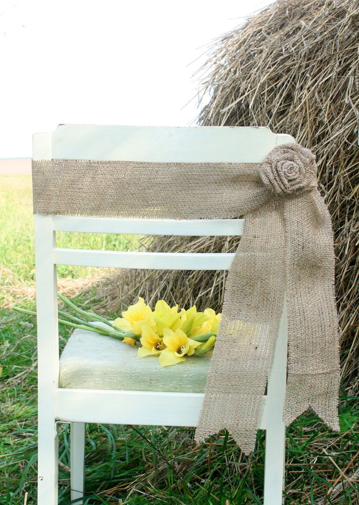 Burlap Chair, Rustic Wedding, Rustic wedding Chair Decorations,Burlap Chair Sash, Burlap Wedding Decorations by FriendlyEvents on Etsy https://www.etsy.com/listing/200593724/burlap-chair-rustic-wedding-rustic