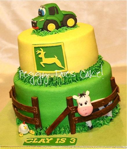john deere birthday cakes | John Deere Cake - by PeggyDoesCake @ CakesDecor.com - cake decorating ...