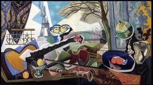 Grande natura morta con Tour Eiffel, 1946, prix aux enchères de Gino SEVERINI, 200.000€.