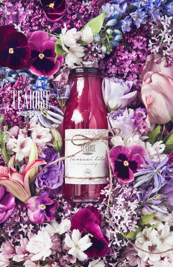 "Limitált kiadású ""Tavaszi lila"" virágszörp ibolyából, orgonából és levendulából ( by Tearose&Zsusska) | ""Spring violet"" flower-syrup from violet, organ and lavender (limited edition by Tearose&Zsusska)"