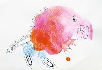 Paint splat monsters.