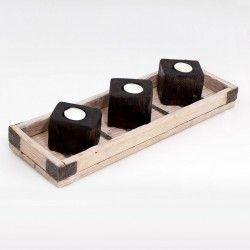 Drewniane świeczniki - Fabryka pomysłow z drewna artykuły z drewna
