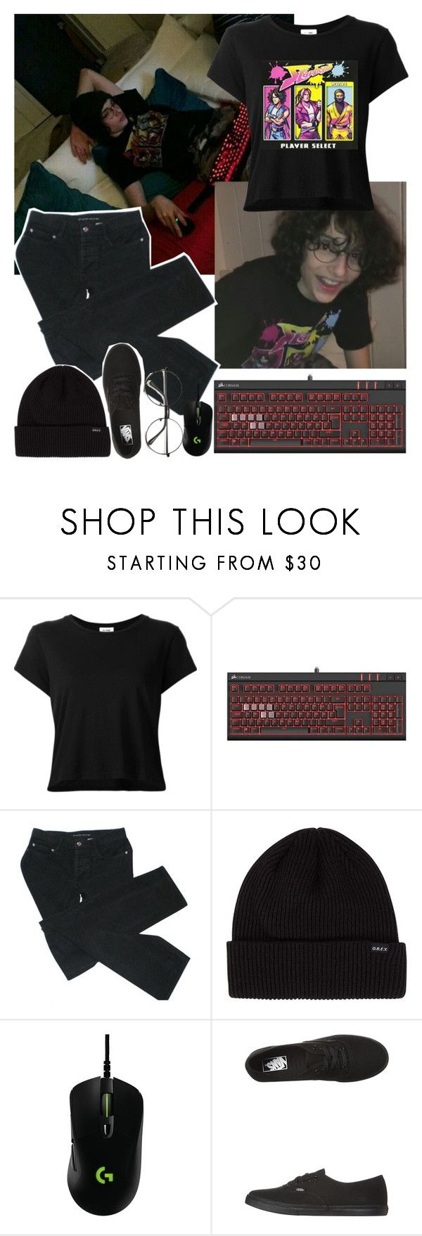 """""""Finn Wolfhard Inspired 3"""" by artaho-potato ❤ liked on Polyvore featuring RE/DONE, Marc by Marc Jacobs, Logitech, Vans and 188"""