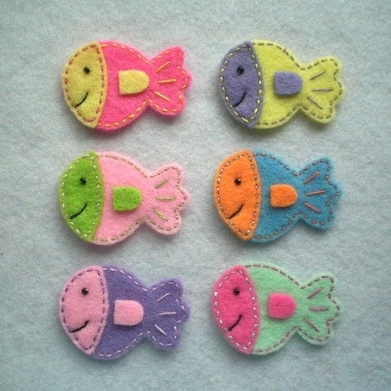 Fish Hair clips