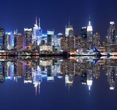 Vista de la espectacular horizonte de Manhattan Foto de archivo