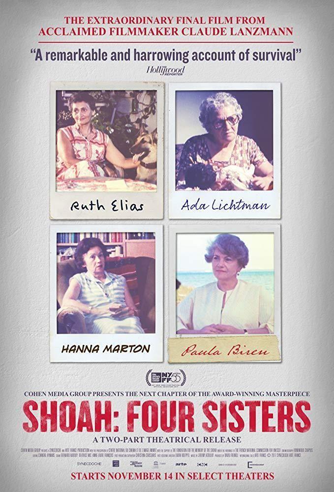 Cine Edu 1016 Les Quatre Soeurs Dir Claude Lanzmann Documental Francia 2018 Unha Das Pelicu Four Sisters Peliculas Completas Gratis Peliculas Completas
