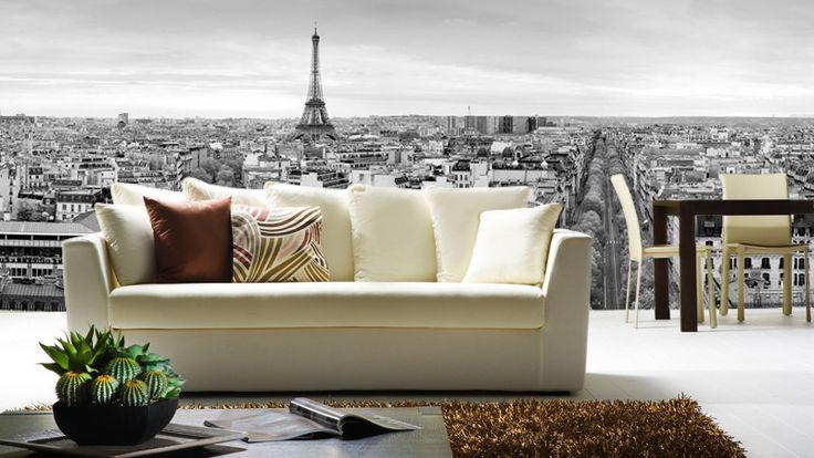 Panoramic View of Paris Wall Mural | Eazywallz
