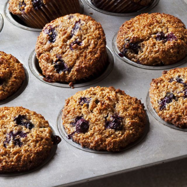 Blueberry Bran Muffins - Barefoot Contessa. (**1 cup a bran, 2 cups of wheat flour)