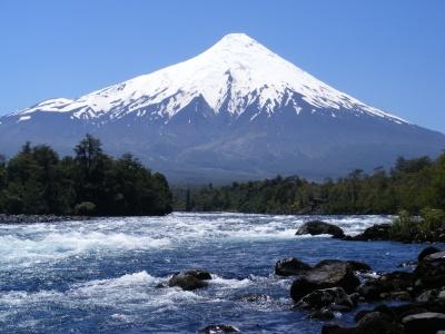 Osorno volcano, Petrohue River, south of Chile