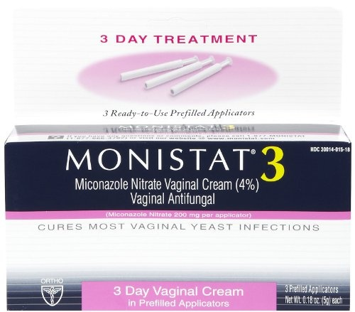 Monistat 3 Vaginal Antifungal Medication, 0.18 Ounce, 3 Prefilled Applicators