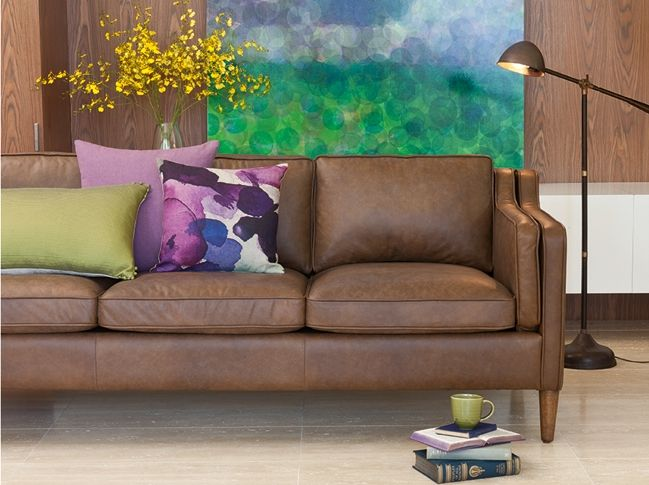 Front Lounge Perfect Bay Leather Republic Canape 3 Seat Sofa