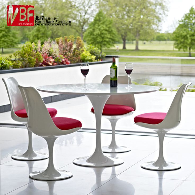 Modern Minimalist Small Round Table Dining Sets IKEA Apartment Casual Coffee Tulip