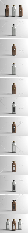 Milk Bottle Packaging Mock-Up. Download here: http://graphicriver.net/item/milk-bottle-packaging-mockup/16079323?ref=ksioks