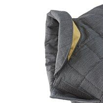 Quilted Dog Coat Anthracite/Saffron 40cm - Mungo & Maud Dog and Cat Outfitters
