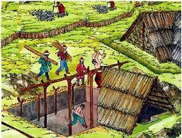 Veremház építés ábrázolása